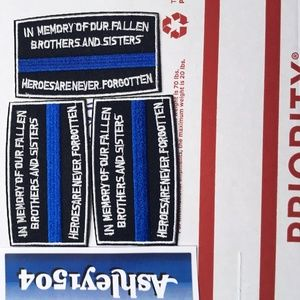 NEW FALLEN POLICE COPS HEROES NEVER FORGET PATCHES